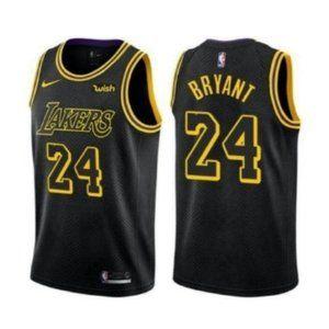 LA Lakers Kobe Bryant City Black Jersey 24#